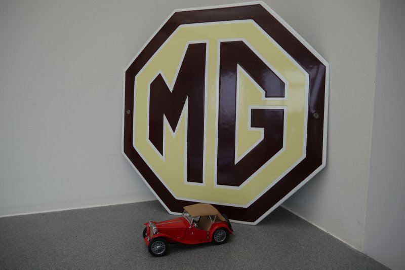 Mg A For Sale >> Mg Enamel Sign Classic Car For Sale at West End Classics
