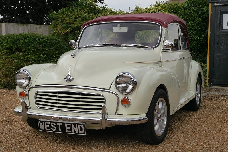 Morris Minor Convertible Post production 1969  1275cc. Five Speed Gearbox