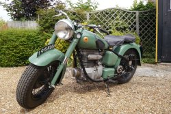 Really Cool Sunbeam S7 Motorcycle  500cc  de- luxe 1949