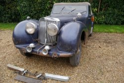 Triumph Roadster 1800 June 1948 Barn Find Project